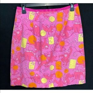 Lilly Pulitzer monkey pink skirt size 2